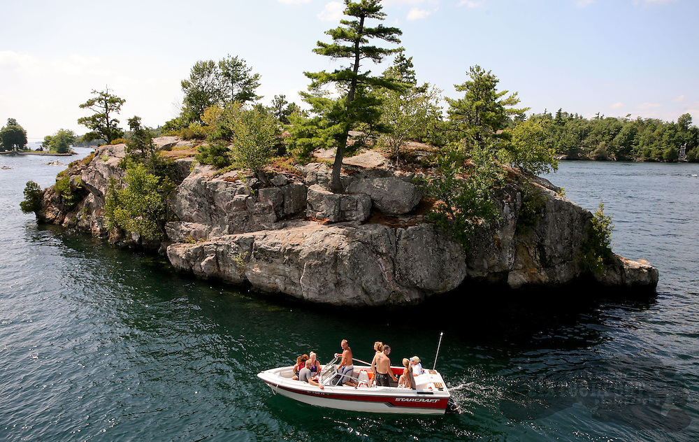 Photo by Gary Cosby Jr.  Boaters enjoy a day in the Thousand Islands are of the St. Lawrence River.
