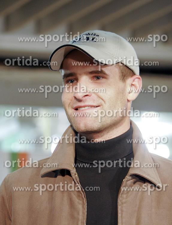 Kolesar Andrej Hauptman na prireditvi Kolesar leta 2004, on  December 1, 2004 , Maximarket, Ljubljana, Slovenia.  (Photo by Vid Ponikvar / Sportida)