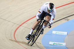 March 2, 2018 - Apeldoorn, Netherlands - Maximilian Levy of Germany competes in Men's sprint qualifying during the UCI Track Cycling World Championships in Apeldoorn on March 2, 2018. (Credit Image: © Foto Olimpik/NurPhoto via ZUMA Press)