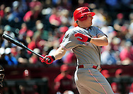 Apr. 10 2011; Phoenix, AZ, USA; Cincinnati Reds outfielder Jay Bruce (32) reacts at bat against the Arizona Diamondbacks at Chase Field. The Diamondbacks defeated the Reds 10-8. Mandatory Credit: Jennifer Stewart-US PRESSWIRE..