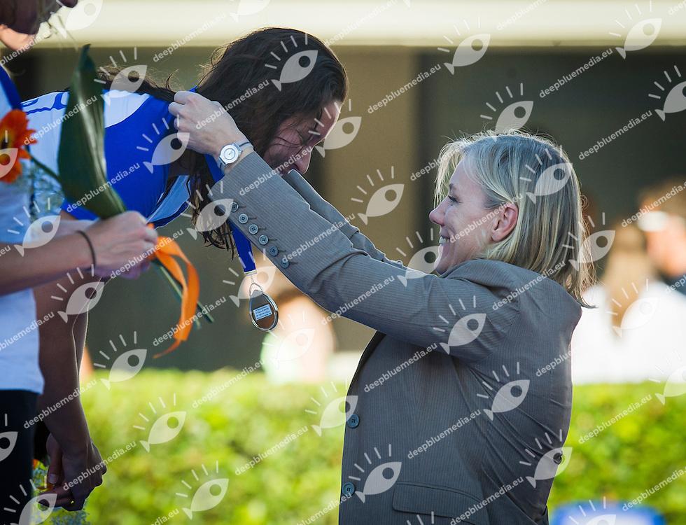 KROMOWIDJOJO Ranomi Nederland, IDEM Josefa Ministro Sport pari oppurtinita<br /> 50 Freestyle Women Gold Medal<br /> 50 Settecolli Trofeo Internazionale di nuoto 2013<br /> swimming<br /> Roma, Foro Italico  13 - 15/06/2013<br /> Day01<br /> Photo Pasquale Mesiano/Deepbluemedia/Insidefoto