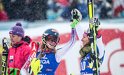 29.12.2014, Hohe Mut, Kühtai, AUT, FIS Ski Weltcup, Kühtai, Slalom, Damen, Siegerehrung, im Bild v.l.: zweite Sarka Strachova (CZE), Siegerin Mikaela Shiffrin (USA) und dritte Wendy Holdener (SUI) // f.l.: second placed Sarka Strachova of Czech Republic, Winner Mikaela Shiffrin of the USA ad third placed Wendy Holdener of Switzerland celebrates on Podium during the award ceremony after Ladies Giant Slalom of the Kuehtai FIS Ski Alpine World Cup at the Hohe Mut Course in Kuehtai, Austria on 2014/12/29. EXPA Pictures © 2014, PhotoCredit: EXPA/ JFK