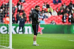 Hugo Lloris of Tottenham Hotspur during the warm up - Mandatory by-line: Arron Gent/JMP - 10/02/2019 - FOOTBALL - Wembley Stadium - London, England - Tottenham Hotspur v Leicester City - Premier League