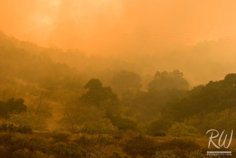 Brea Canyon Firestorm, Southern California