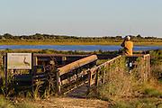 Birdwatcher, Brazoria National Wildlife Refuge, Brazoria County, Texas, Coastal,