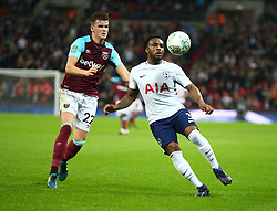 October 25, 2017 - London, England, United Kingdom - Tottenham Hotspur's Danny Rose holds of West Ham United's Sam Byram.during Carabao Cup 4th Round match between Tottenham Hotspur and West Ham United at Wembley Stadium, London,  England on 25 Oct  2017. (Credit Image: © Kieran Galvin/NurPhoto via ZUMA Press)
