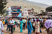 People gathered around Dhalpur ground for a good view of the event. Kullu Dussehra is the Dussehra festival observed in the month of October in Himachal Pradesh state in northern India. It is celebrated in the Dhalpur maidan in the Kullu valley. Dussehra at Kullu commences on the tenth day of the rising moon, i.e. on 'Vijay Dashmi' day itself and continues for seven days. Its history dates back to the 17th century when local King Jagat Singh installed an idol of Raghunath on his throne as a mark of penance. After this, god Raghunath was declared as the ruling deity of the Valley.