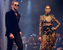 AU_1337116 - Perth, AUSTRALIA  -  Nicole Trunfio and Nat Fyfe close the Perth Fashion Festival at Optus Stadium in Perth, Western Australia<br /> <br /> Pictured: Nicole Trunfio and Nat Fyfe<br /> <br /> BACKGRID Australia 14 SEPTEMBER 2018 <br /> <br /> BYLINE MUST READ: FAMO / BACKGRID<br /> <br /> Phone: + 61 2 8719 0598<br /> Email:  photos@backgrid.com.au