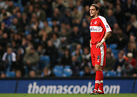 Photo: Paul Thomas.<br /> Manchester City v Middlesbrough. The Barclays Premiership. 30/10/2006.<br /> <br /> Middlesborough defender Jonathan Woodgate.