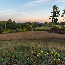 View of fields from Sagamore Hill in Hamilton, Massachusetts.