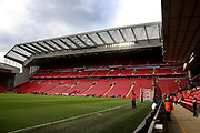 Liverpool new main stand before the Premier League match between Liverpool and Tottenham Hotspur at Anfield, Liverpool, England on 31 March 2019.