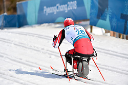 HESS Ethan CAN LW12 competing in the ParaSkiDeFond, Para Nordic Skiing, Sprint at  the PyeongChang2018 Winter Paralympic Games, South Korea.