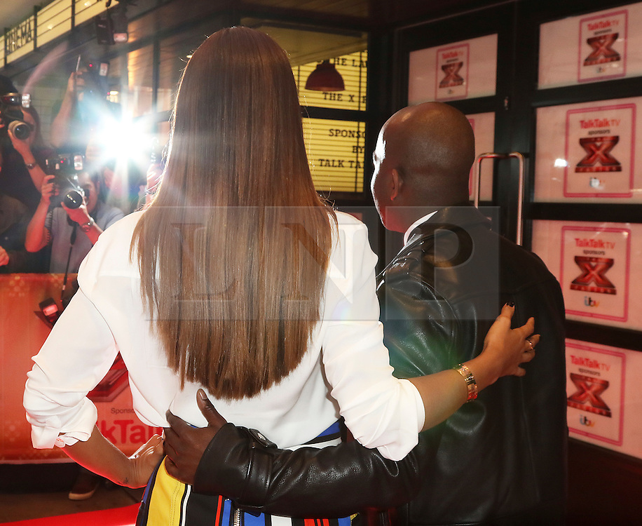© London News Pictures. Melvin Odoom, Rochelle Humes, The X Factor - press launch, Picturehouse Central, London UK, 26 August 2015, Photo by Richard Goldschmidt /LNP