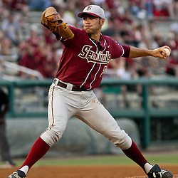 June 04, 2011; Tallahassee, FL, USA; Florida State Seminoles starting pitcher Sean Gilmartin (3) throws during the second inning of the Tallahassee regional of the 2011 NCAA baseball tournament against the Alabama Crimson Tide at Dick Howser Stadium. Mandatory Credit: Derick E. Hingle