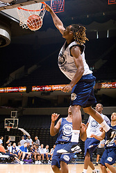 WF Damon Powell (Oakland, CA / McClymonds) slams a one handed dunk.  The NBA Player's Association held their annual Top 100 basketball camp at the John Paul Jones Arena on the Grounds of the University of Virginia in Charlottesville, VA on June 20, 2008