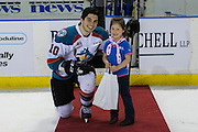 KELOWNA, CANADA - FEBRUARY 18:  First Star of the Game Nick Merkley #10 of the Kelowna Rockets at the Kelowna Rockets game on February 18, 2017 at Prospera Place in Kelowna, British Columbia, Canada.  (Photo By Cindy Rogers/Nyasa Photography,  *** Local Caption ***