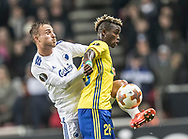 FOOTBALL: Pierre Bengtsson (FC København) and Ubong Ekpai (FC Zlin) during the UEFA Europa League Group F match between FC København and FC Zlin at Parken Stadium, Copenhagen, Denmark on November 2, 2017. Photo: Claus Birch