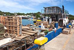 Supply boat from mainland Honduras, Utila.