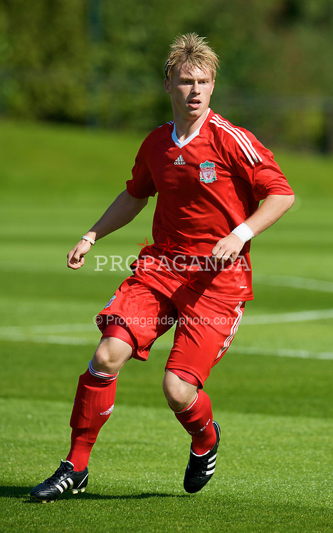 KIRKBY, ENGLAND - Saturday, August 23, 2008: Liverpool's Marvin Pourie in action against Crystal Palace during the FA Academy Under 18 match at the Academy. (Photo by David Rawcliffe/Propaganda)