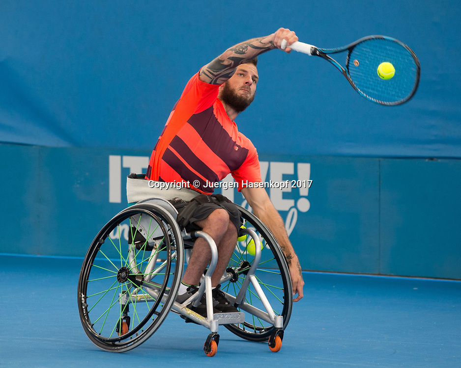 HEATH DAVIDSON (AUS), Rollstuhl Tennis<br /> <br /> Tennis - Brisbane International  2017 - ITF -  Pat Rafter Arena - Brisbane - QLD - Australia  - 6 January 2017. <br /> &copy; Juergen Hasenkopf