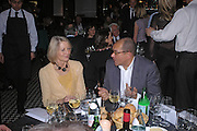 Sandra Howard and Bruce Oldfield. Conservative fund raising dinner hosted  by Marco Pierre White and Franki Dettori at  Frankie's. Knightsbridge. 17 January 2004. ONE TIME USE ONLY - DO NOT ARCHIVE  © Copyright Photograph by Dafydd Jones 66 Stockwell Park Rd. London SW9 0DA Tel 020 7733 0108 www.dafjones.com