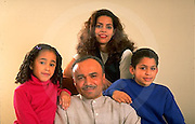 People, Hispanic Family Photo, Mother, Father, Daughter and Son, Latino Family Family