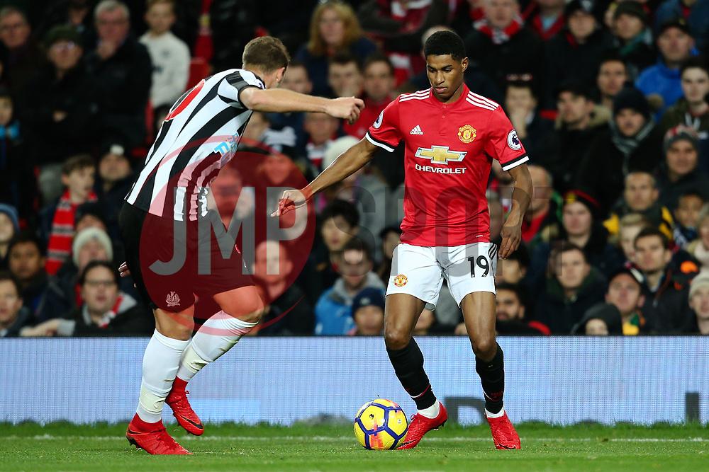 Marcus Rashford of Manchester United attacks - Mandatory by-line: Matt McNulty/JMP - 18/11/2017 - FOOTBALL - Old Trafford - Manchester, England - Manchester United v Newcastle United - Premier League