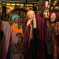 The Inn at Lydda by WOLFSON ;<br /> Directed by Andy Jordan ;<br /> Richard Bremmer (as Balthasar) ;<br /> Joseph Marcell (as Casper) ;<br /> Kevin Moore (as Melchior) ;<br /> Sam Wanamaker Playhouse, Globe Theatre ;<br /> 6 September 2016 ;<br /> Credit: Pete Jones/ArenaPal ;<br /> www.arenapal.com