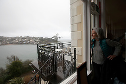 UK ENGLAND FOWEY 20FEB15 - Writer Tatiana De Rosnay at the Fowey Hotel in Fowey, Cornwall, England, where famous English novelist Daphne Du Maurier first stayed when she came there. Fowey, a small fishing and harbour village was the living place of famous English writer Daphne Du Maurier and many of her novels are based here.<br /> <br /> jre/Photo by Jiri Rezac<br /> <br /> © Jiri Rezac 2015