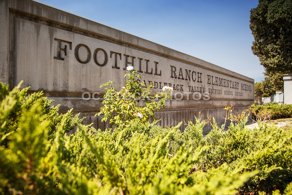 Foothill Ranch Elementary School Monument