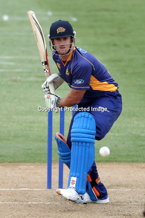 Neil Broom batting during the semi final ODI playoff match, Auckland Aces v Otago Volts. Colin Maiden Park, Auckland. Wednesday 9 February 2011. Photo: Ella Brockelsby/photosport.co.nz