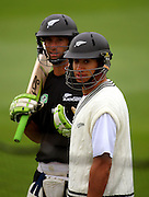Grant Elliot and Ross Taylor prepare for batting practice.<br /> National Bank Test Match Series, New Zealand v England, Black Caps Nets Practice. Allied Prime Basin Reserve, New Zealand. Tuesday, 11 March 2008. Photo: Dave Lintott/PHOTOSPORT