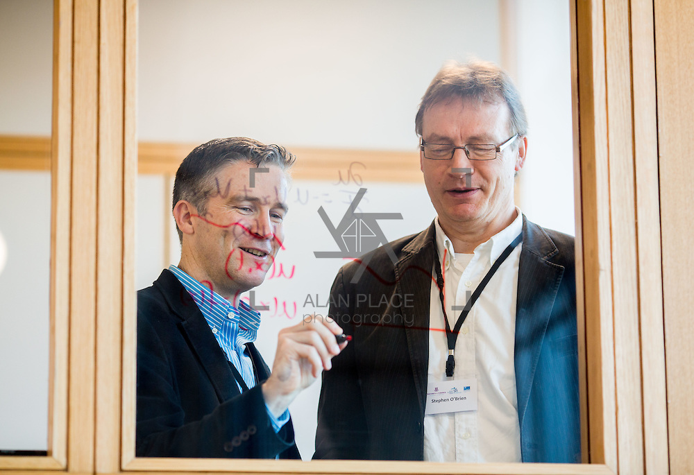 08.12.2016                   <br /> Pictured at the MACSI 10 conference, Analog Devices Building UL were, Prof. James Gleeson, MACSI UL and Prof. Stephen O'Brien, MACSI UL. Picture: Alan Place