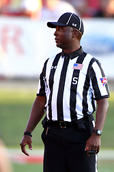 03 September 2016:  Side Judge Dorran Stewart. NCAA FCS Football game between Valparaiso Crusaders and Illinois State Redbirds at Hancock Stadium in Normal IL (Photo by Alan Look)