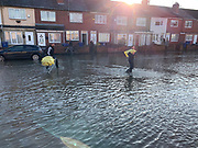 Flooding in Doncaster, Bentley, Hunt Lane with sandbags being put out to help prevent damage on 8 November 2019. Picture by Ben Early.
