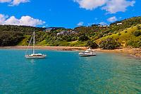Harbor at Waiheke Island, Hauraki Gulf near Auckland, New Zealand