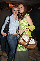 Left to riht, MISS ANTONIA HEDLEY-DENT and MISS HENRIETTA DUPS at a party to celebrate the re-launch of the Polo bar at The Westbury Hotel, Bond Street, London W1 on 26th April 2005.<br /><br />NON EXCLUSIVE - WORLD RIGHTS