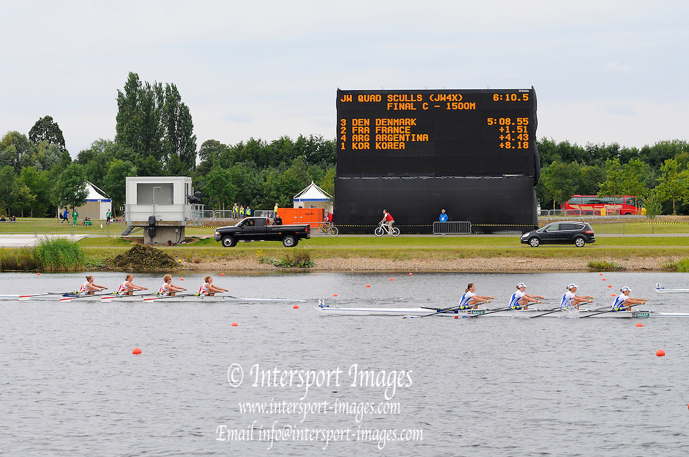 Eton. Great Britain. DEN, FRA, JW4X, C Final, FISA Junior  World Rowing Championships. Dorney Lake, Nr Windsor. Saturday, 06/08/2011 [Mandatory credit: Intersport Images]