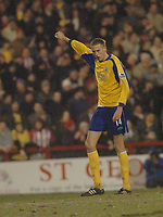 Photo. Leigh Quinnell, Digitalsport<br />   Brentford v Southampton FA cup. 01/03/2005. Southamptons Peter Crouch celebrates his gaol