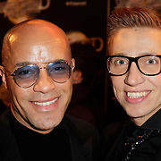 NLD/Amsterdam/20120217 - Premiere Saturday Night Fever, Stanley Burleson en partner Marcel Visscher
