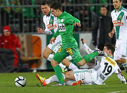 26.11.2011, Pappelstadion, Mattersburg, AUT, 1. FBL, SV Mattersburg vs SK Rapid, im Bild Patrick Farkas, (SV Mattersburg, #17) vs Christopher Drazan, (SK Rapid Wien, #19)  during the Austrian Bundesliga Match, SV Mattersburg against SK Rapid, Stadium, Pappelstadion Mattersburg, Austria on 2011-11-26, EXPA Pictures © 2011, PhotoCredit: EXPA/ S. Woldron