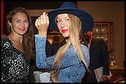 JULIA FLIT; LISA URLA at the preview of LAPADA Art and Antiques Fair. Berkeley Sq. London. 23 September 2014.