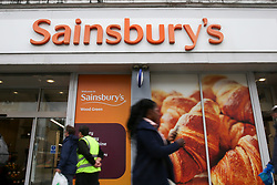 © Licensed to London News Pictures. 25/09/2019. London, UK. A branch of Sainsbury's on High Road, Wood Green in north London. Sainsbury's has announced plans to close more than 50 local high street stores around the UK. Photo credit: Dinendra Haria/LNP