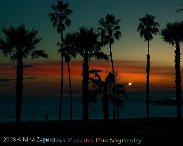 Vivid colored sunset Santa Barbara, CA