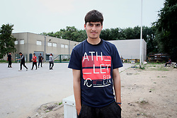 FRANCE CALAIS 2AUG17 - Rehan Barakzai, 16, from Kunduz, Afghanistan poses for a photo at an industrial estate in Calais, northern France.<br /> <br /> He has traveled to Europe for 9 months, including 3 months in a detention centre in Bulgaria where he was beaten by guards, a camp in Serbia for 2 months, and has arrived in Calais 1 month ago.<br /> <br /> jre/Photo by Jiri Rezac<br /> <br /> © Jiri Rezac 2017
