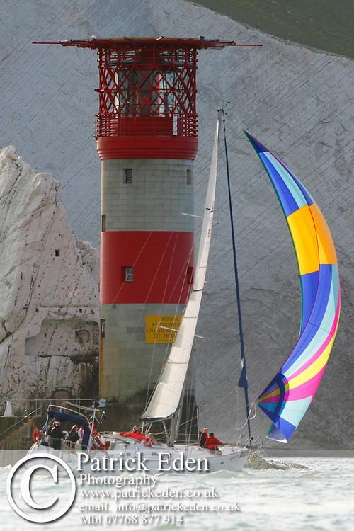 DEBONAIR, The Needles, Round the Island Race, 2013,Isle of Wight, UK, Sports Photography