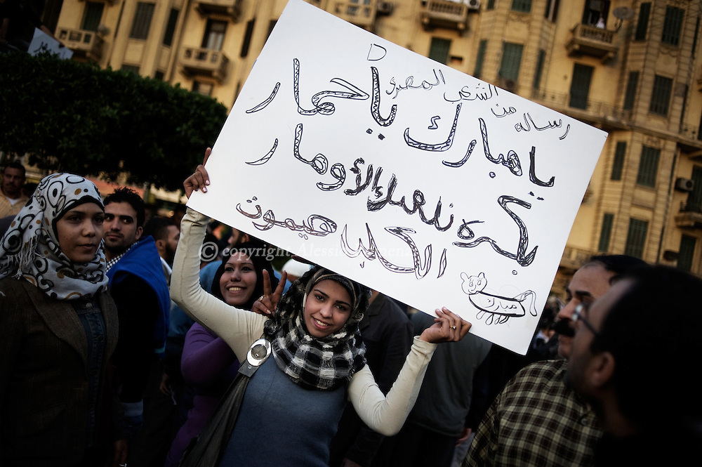 "That's a message from the Egypians people -  ""Donkey Mubarak : tomorrow we'll play with youALESSIO ROMENZI"