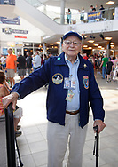 Garden City, New York, U.S. July 20, 2019. ERNEST FINAMORE - a former Grumman employee who worked on the Lunar Module, The Eagle, and who is a currant Docent and Restoration volunteer at the Cradle of Aviation Museum, attends the Moon Fest Apollo at 50 Countdown Celebration at Cradle of Aviation Museum in Long Island, during the time Apollo 11 Lunar Module landed on the Moon 50 years ago.