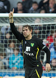 08.12.2012, Liberty Stadion, Swansea, ENG, Premier League, Swansea City vs Norwich City, 16. Runde, im Bild Norwich City's captain Grant Holt celebrates scoring the third goal against Swansea City during the English Premier League 16th round match between Swansea City AFC and Norwich City FC at the Liberty Stadium, Swansea, Great Britain on 2012/12/08. EXPA Pictures © 2012, PhotoCredit: EXPA/ Propagandaphoto/ David Rawcliffe..***** ATTENTION - OUT OF ENG, GBR, UK *****