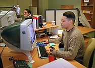Walter M. Rivera, works on a website design at Global Sports Interactive, Thursday, Jan. 27, 2000, in Valley Forge, Pa.  (Photo/William Thomas Cain)